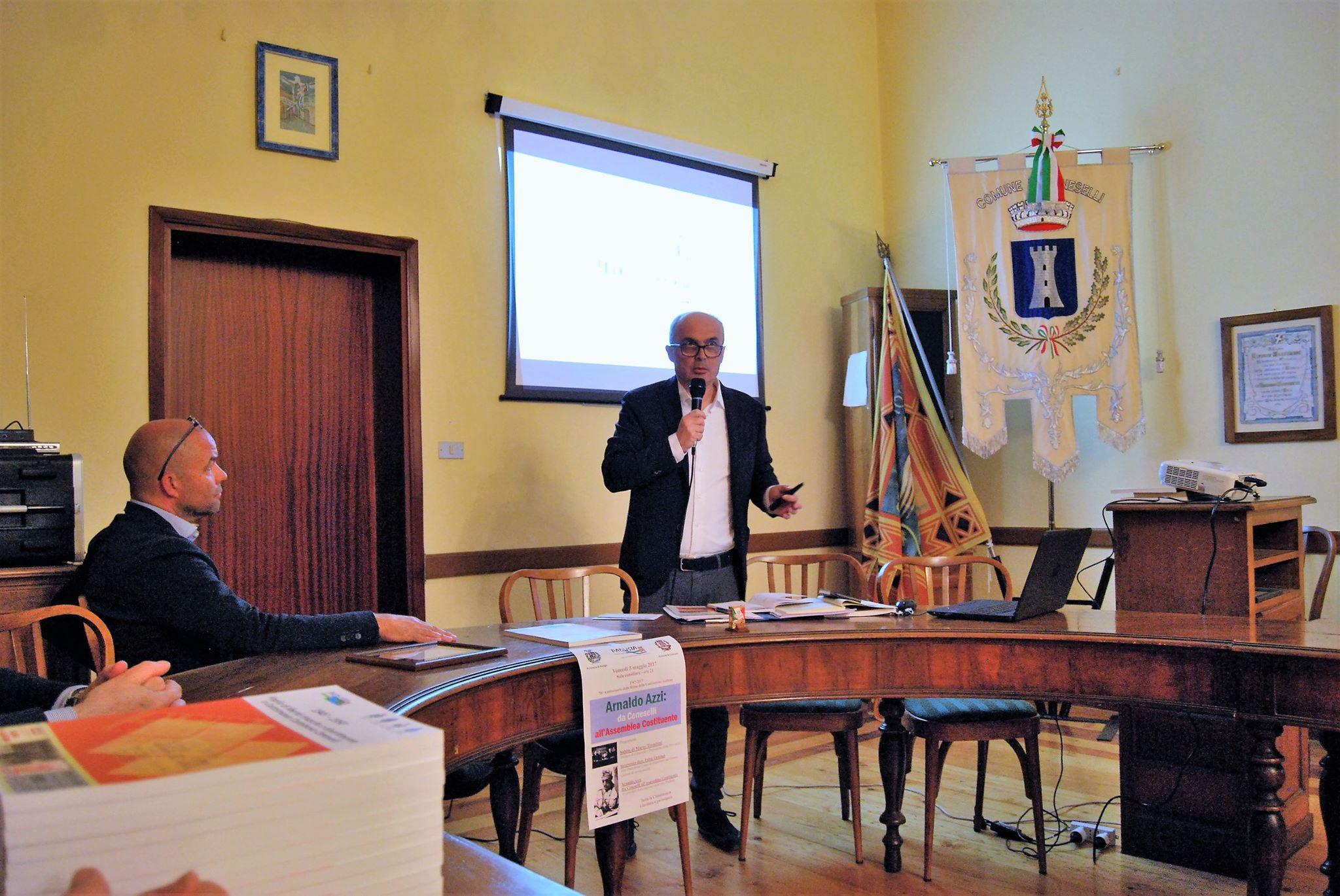 Padusia Arnaldo Azzi da Ceneselli all'Assemblea Costituente